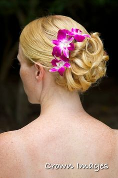 Beach Wedding HairStyle with Flowers