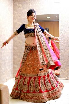 Beautiful work on this Indian Bride's lengha.