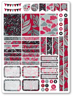Red Sky Decorating Kit / Weekly Spread Planner Stickers for Erin Condren…