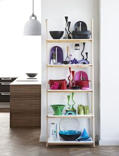One Step Up is a bookcase that combines form, material and function in a simple and chaste design.