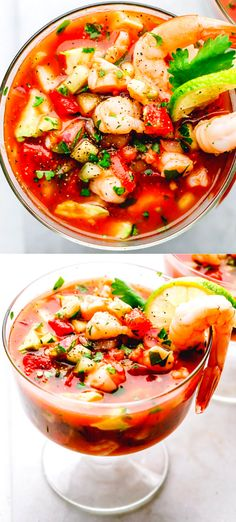 Easy Mexican Shrimp Cocktail Recipe - bursting with the most delicious Mexican Flavor of jalapeño, tomatoes, avocados, lime and hot pepper sauce. Perfect Shrimp Cocktail Recipe for Christmas party or Cinco de Mayo. Best Shrimp Cocktail Recipe, Mexican Shrimp Cocktail, Mexican Shrimp Recipes, Seafood Recipes, Vegetarian Recipes, Mexican Seafood, Easy Shrimp Recipes, Seafood Cocktail, Vegetarian Appetizers