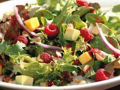 Raspberry Avocado Mango Salad summer salads sides barbecue side dish