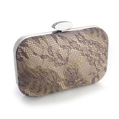 Champagne Lacey Evening Minaudiere Clutch Purse - beautiful for Fall! - Affordable Elegance Bridal -