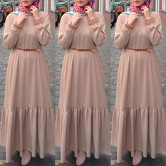 Maxi dresses with hijab styles Modest Fashion Hijab, Modern Hijab Fashion, Muslim Women Fashion, Islamic Fashion, Skirt Fashion, Fashion Outfits, Dress Outfits, Maxi Dresses, Stylish Dress Designs