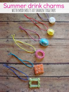 Summer drink charms with Mod Melts at shakentogetherlife.com So cute!