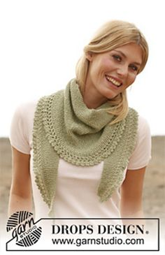 "Ravelry: 136-2 ""Caress"" - Scarf with flounce in ""Alpaca"" free pattern by DROPS design"