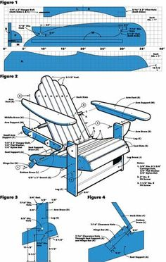 Saturday Morning Workshop: How To Build A Folding Adirondack Chair Start relaxing at your happy place and make this folding version of the classic outdoor lounge chair in one day. Adirondack Chair Plans, Outdoor Furniture Plans, Rustic Furniture, Modern Furniture, Antique Furniture, Furniture Design, Plywood Furniture, Chair Design, Design Design