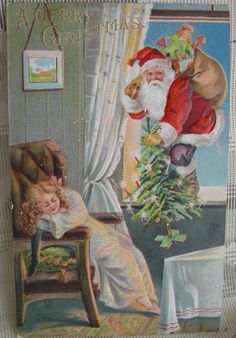 Vintage Christmas Santa Claus Postcard