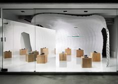 Japanese designer Soichi Mizutani used computer algorithms to create a human-sized cave for Tokyo's Iguaneye Aoyama shoe store