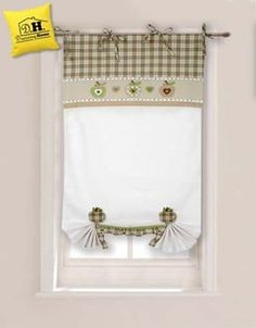 Tenda finestra con due embrasse Angelica Home & Country Collezione Mele in Beige