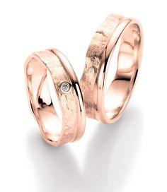 Ausgefallene Ringe in Roségold für Schwerverliebte.