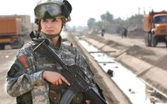 Military Soldier  Gun Weapon Woman Pretty Cute Wallpaper