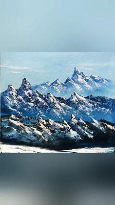 Canvas Painting Landscape, Landscape Art, Landscape Photography, Acrylic Paintings, Landscape Edging, Photography Tips, Painting Art, Painting Flowers, Painting Tools