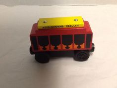 Mr. Rogers Neighborhood Trolley Thomas and Friends Compatible 2004 Red Car #FamilyCommunicationsInc