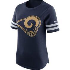 Los Angeles Rams Nike Women's Gear Up Modern Fan Performance T-Shirt - Navy - $44.99