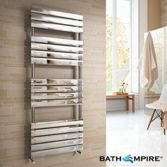 1600x600mm Chrome Flat Panel Ladder Towel Radiator - Francis Premium - BathEmpire
