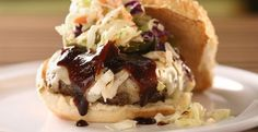 Dallas Burger with Coleslaw and BBQ Sauce