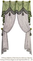 1810 Fringe and Tassel Curtain -  Green by EveyD