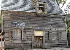 The Oldest Wooden School house in St. Augustine, FL.  I have been here many many times and I never tire of seeing it.