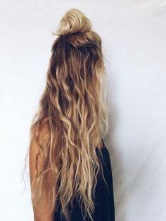 half updo / long wavy hairstyles   Sloane Ranger #hair #beauty