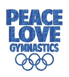 Peace Love Gymnastics Iron On Decal by GirlsLoveGlitter on Etsy