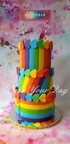 Rainbow Love Cake - Cake by Cake Your Day (Susana van Welbergen)