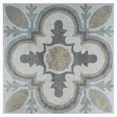 Merola Tile Llanes Perla Granada Encaustic in. Ceramic Floor and Wall Tile sq. / case), Multicolored Grey And Tan/Mixed Finish Bathroom Flooring, Kitchen Flooring, Kitchen Backsplash, Backsplash Ideas, Tile Ideas, Stone Tiles, Cement Tiles, Cement Tile Backsplash, Ceramic Flooring