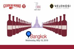 VELENOSI VINI in Asia con Gambero Rosso: seconda tappa a Bangkok.  Il 18 Maggio ci spostiamo in direzione Bangkok per la seconda tappa del tour asiatico Top Italian Wines Road Show. Questa volta saremo presso il Pullman Bangkok Grande Sukhumvit, per far assaggiare a tutti gli ospiti i nostri meravigliosi vini.