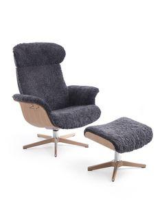 conform timeout relaxsessel x fu holz in schaffell sitzschale eiche schwarz conform. Black Bedroom Furniture Sets. Home Design Ideas