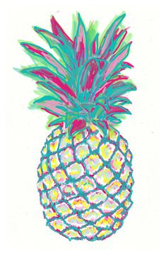 Pineapple Canvas Print by Tebon