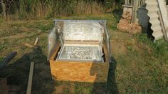 Picture of A glass plate to close the insulating box Solar Oven Diy, Diy Solar, Solar Stove, Scrap Material, Summertime, Plate, Oven Recipes, Tiny House, Camper