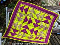 Quilt, sew Happy!: Follow-Up Friday: More Of My Quilts and Are You My... Flying Geese, Hourglass, I Am Happy, Dollar Stores, You And I, Thrifting, Saving Money, Giveaway, Quilting