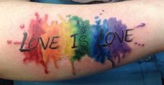 Love Is Love Pride #LGBT Tattoo