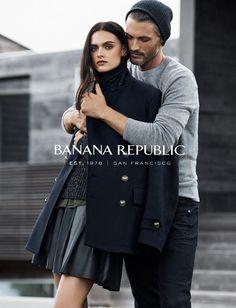Banana Republic Fall 2014 | Zuzana Gregorova and Ben Hill by Lachlan Bailey | Styled by Brian Molloy #fallfashion #fallcampaigns