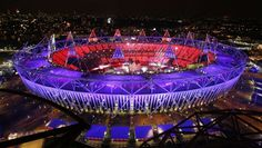The Olympic Stadium is seen during the opening ceremony of the London 2012 Olympic Games