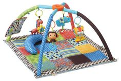 Infantino Twist and Fold Activity Gym, Vintage Boy, 2016 Amazon Most Gifted Gifts  #BabyProduct