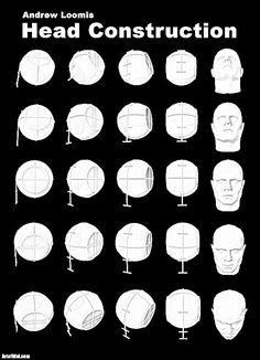 Learn the basics of drawing heads from any angle - - How To Draw Anything, Head Angles, Andrew Loomis, Face Proportions, Drawing Heads, Face Profile, Was Ist Pinterest, Anatomy Poses, Basic Drawing
