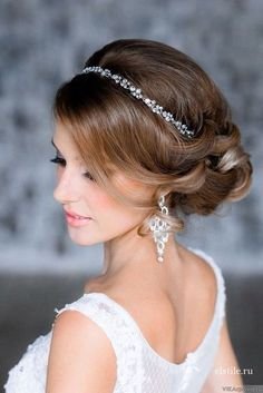 Crystal Bridal Headband a touch of simple elegance for your special day: labellabridalaccessories.com.