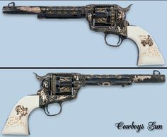 The Cowboys Gun.  Engraver Leonard Francolini.  Paul Goodwin photo.