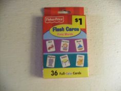 Fisher-Frice Flash Cards First Words by Fisher-Price. $7.89. First Words. 36 Full-Color Cards. Flash Cards