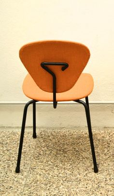 Franco Campo and Carlo Graffi; Enameled Metal Side Chair, 1950s.