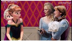 Mash up of Anna and Elsa from Frozen and Once Upon a Time