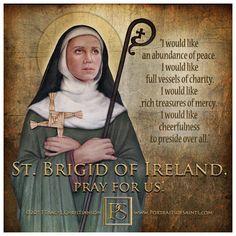 st brigid of ireland quotes Irish Catholic, Catholic Prayers, Catholic Saints, Patron Saints, Roman Catholic, Catholic Quotes, St Bridget Prayers, Saint Anthony Of Padua, St Brigid