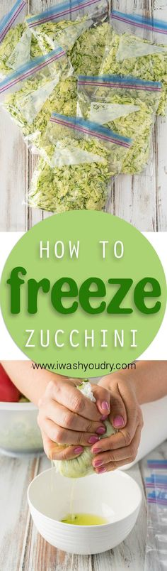This is such a clever idea on how to freeze my surplus of zucchini from my garden! Freezing Fruit, Freezing Vegetables, Fruits And Veggies, Freezing Tomatoes, Crock Pot Freezer, Freezer Cooking, Freezer Meals, Cooking Tips, Crockpot