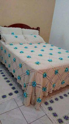 Crochet Bedspread Patterns Part 2 - Beautiful Crochet Patterns and Knitting Patterns Crochet Bedspread Pattern, Crochet Quilt, Love Crochet, Crochet Blanket Patterns, Beautiful Crochet, Knitting Patterns, Draps Design, Crochet Furniture, Granny Square