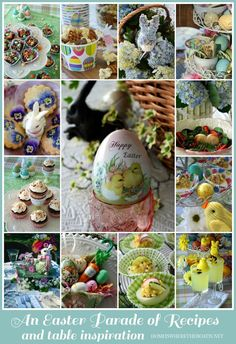 An Easter Parade of Recipes and Inspiration from the kitchen to the table | Homeiswheretheboatis.net #Easter #recipe #table