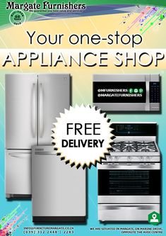 Our wide range of appliances includes both electric and gas stoves and ovens, microwaves, fridges and freezers, heaters, fans, cooker hobs and so much more