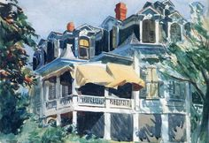 Edward Hopper — The Mansard Roof, 1923, Edward HopperSize:...