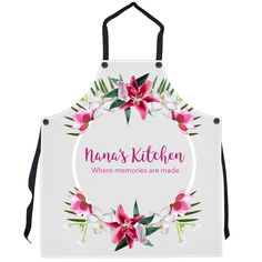 Excited to share this item from my #etsy shop: Personalized Aprons Mother's Day Gift, Gift for Mom, Gift for Grandmother, Memories Apron, Floral Design, Mom's Kitchen, Nana's kitchen,   #mothersday #mothersdaygift #giftformom #giftformother #giftforgrandmother #momapron #nanaapron #mothersdayapron Personalized Graduation Gifts, Personalized Aprons, Personalized Pillows, Gifts For Father, Mother Day Gifts, Grandmother Gifts, Cool Mugs, Bridal Shower Gifts, New Hobbies
