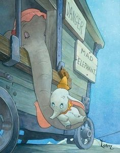 Dumbo - my favorite Disney movie when I was a kid. One of the saddest days of my childhood was when I thought I killed Dumbo when the VCR ate the tape. I cried for hours. Disney Magic, Disney Pixar, Walt Disney, Disney Amor, Disney And Dreamworks, Disney Movies, Disney Characters, Dumbo Disney, Disney Movie Scenes